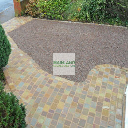 Pink gravel driveway constructed using this guide!