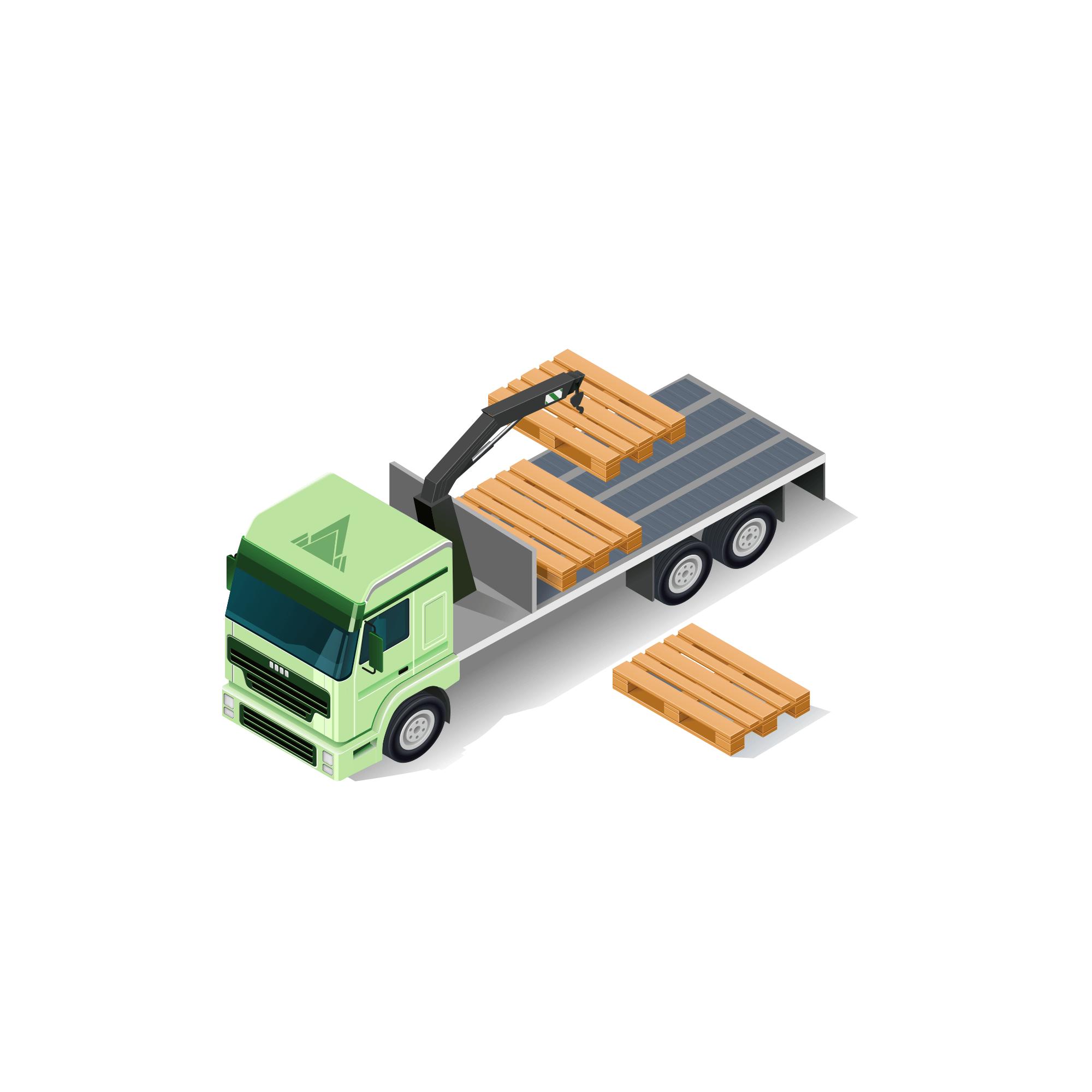 Rigid Lorry with HIAB Crane