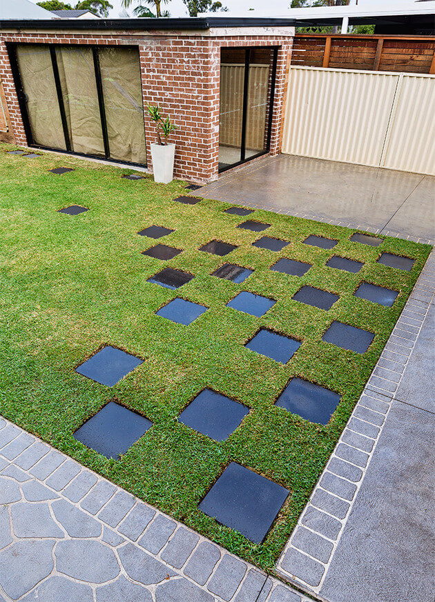 how to work out square metres of lawn