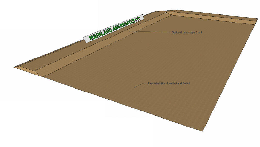 Excavation example of a riding arena