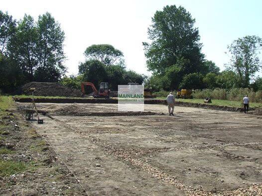 Riding arena excavation example